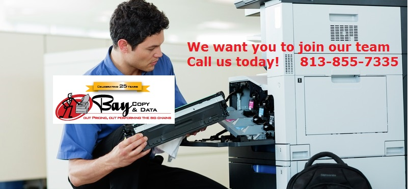 Join Our Team!  We are growing.  813-855-7335